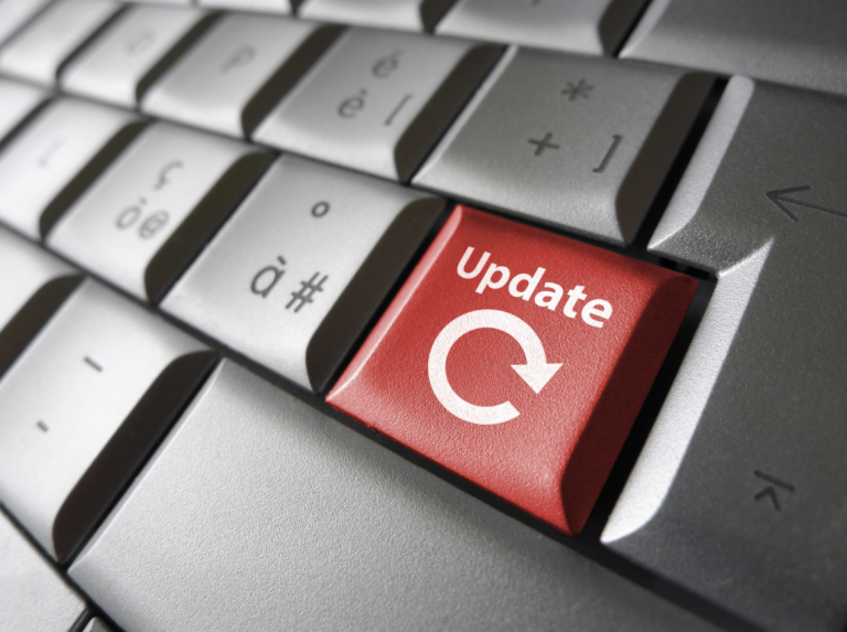 update button on keyboard